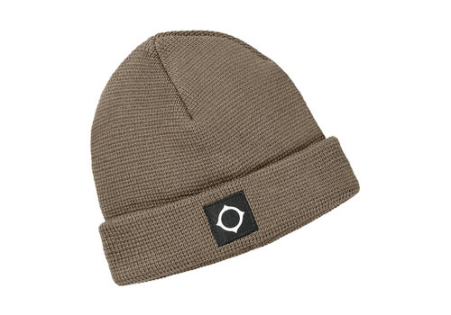 MA.STRUM MA.STRUM Milano knit hat Timber Wolf Brown