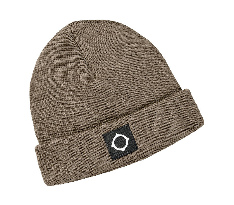 MA.STRUM Milano knit hat Timber Wolf Brown