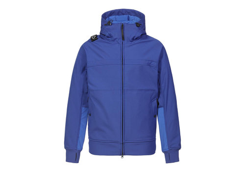 MA.STRUM MA.STRUM full zip hooded softshell jacket Vibrant Blue