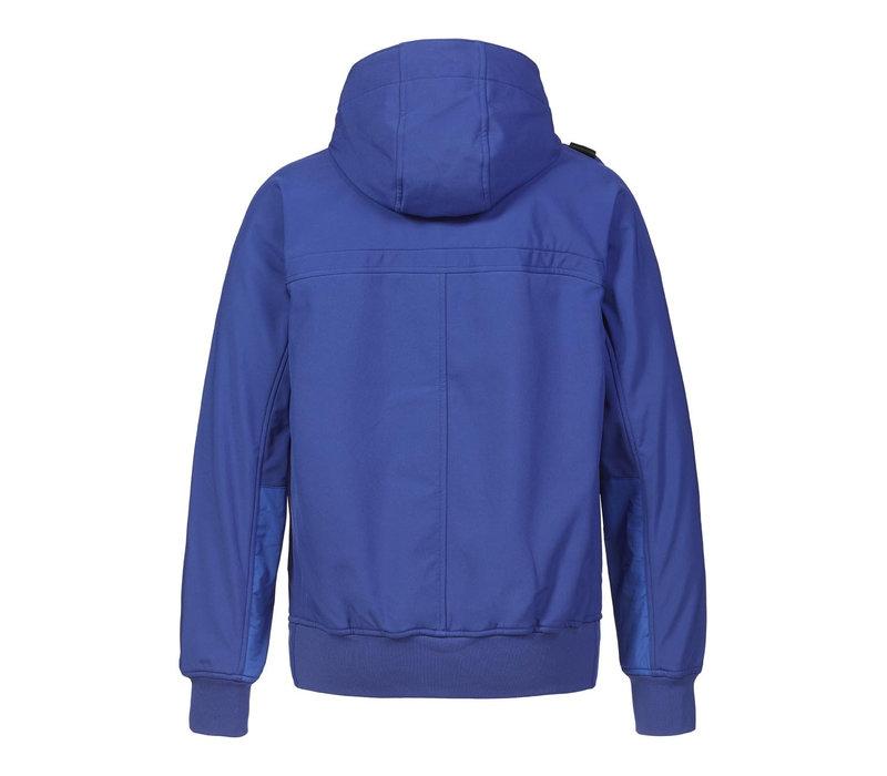 MA.STRUM full zip hooded softshell jacket Vibrant Blue