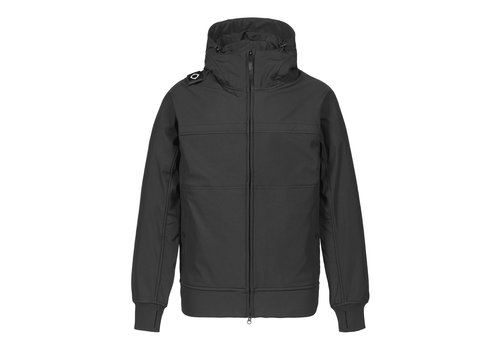 MA.STRUM MA.STRUM full zip hooded softshell jacket Jet Black
