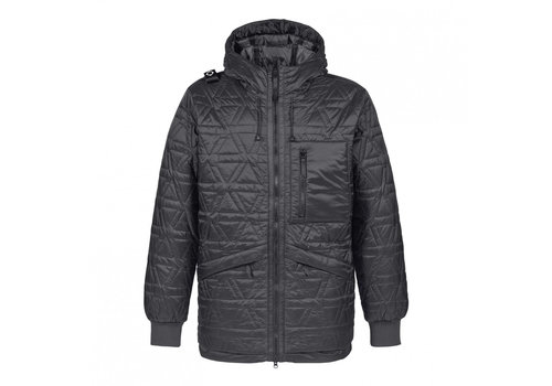 MA.STRUM MA.STRUM polygon quilt hooded jacket Jet Black