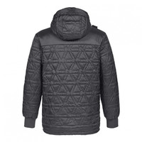 MA.STRUM polygon quilt hooded jacket Jet Black