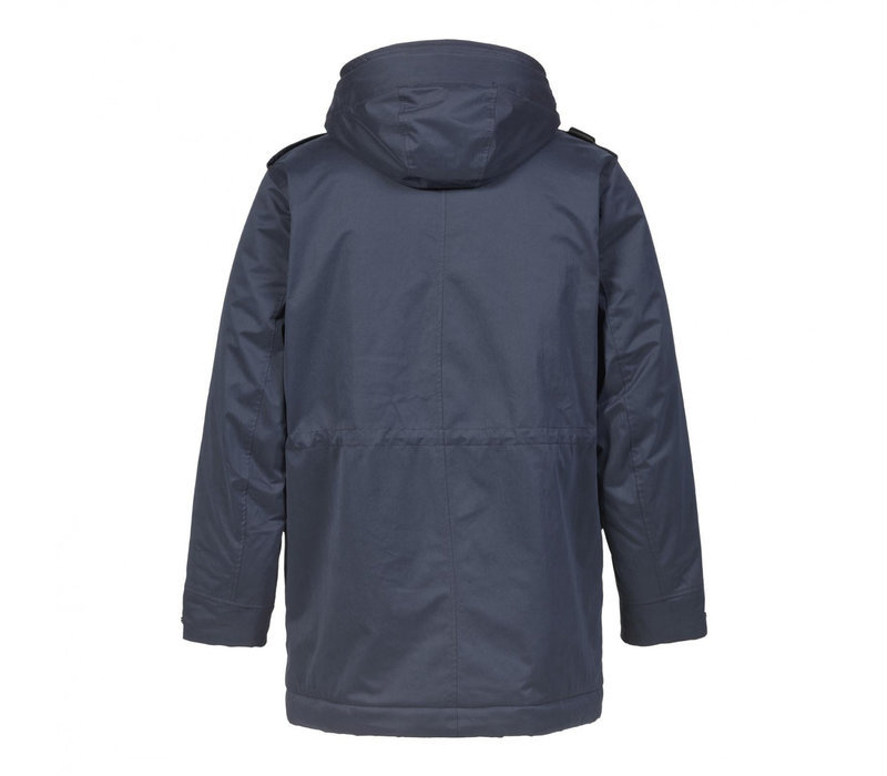 MA.STRUM hooded parka True Navy