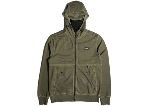 Peaceful Production Peaceful Production stadium hoodie Olive Green