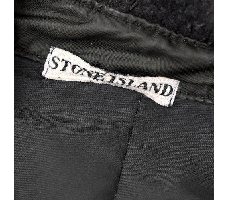 Stone Island brown david microfiber hooded field jacket L