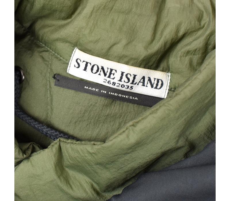 Stone Island grey david-oxyd down parka L