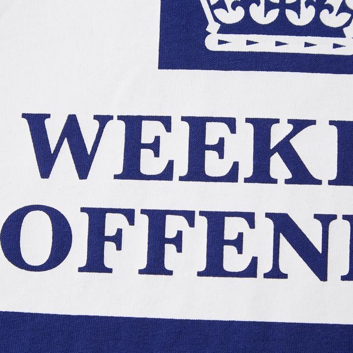 Weekend Offender Prison Sweat-Shirt-Bleu Marine /& Blanc-Bnwt
