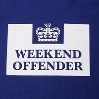 Weekend Offender Prison logo t-shirt Marine Blue