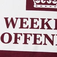 Weekend Offender Prison logo t-shirt Burgundy Red