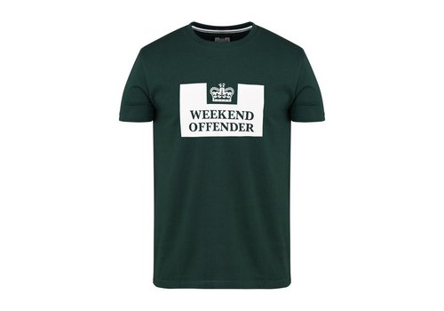Weekend Offender Weekend Offender Prison logo t-shirt Deep Forest Green