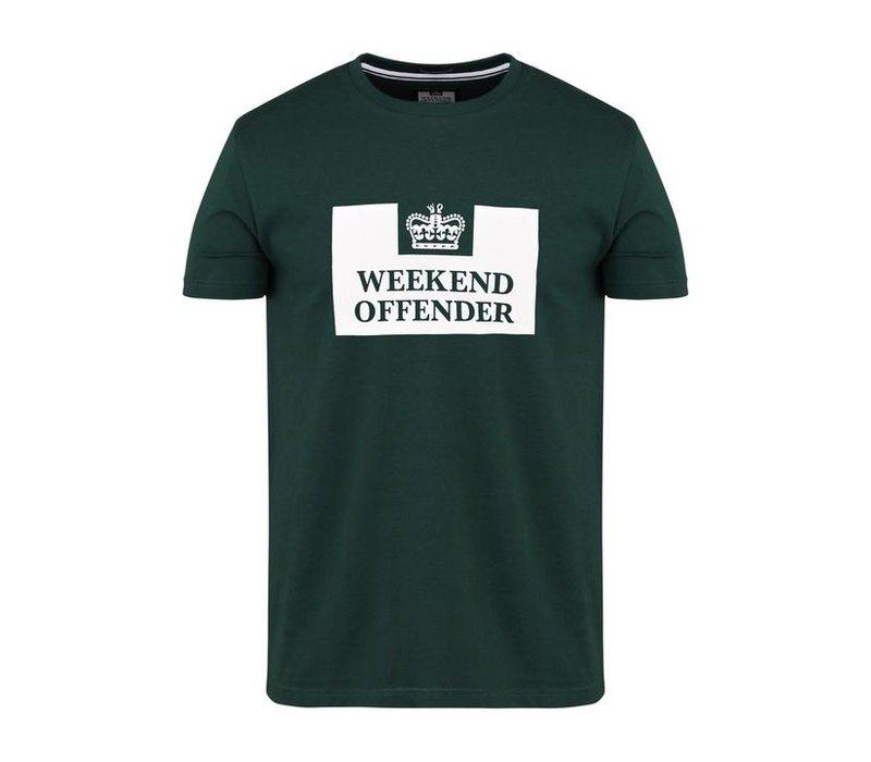 Weekend Offender Prison logo t-shirt Deep Forest Green