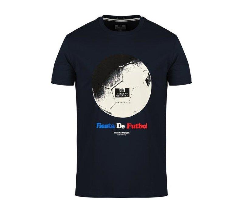 Weekend Offender Fiesta de Futbol t-shirt Navy