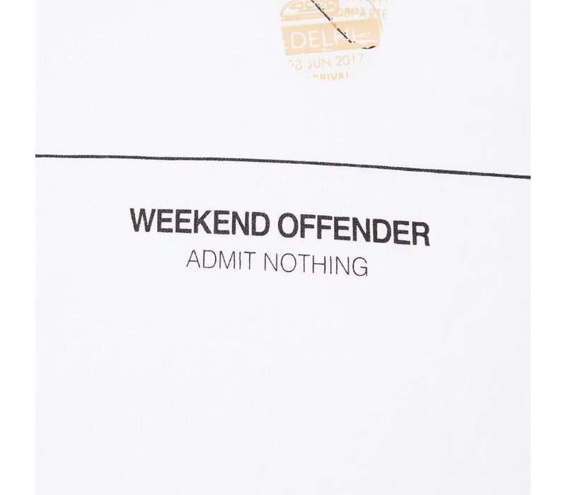 Weekend Offender Badges t-shirt White