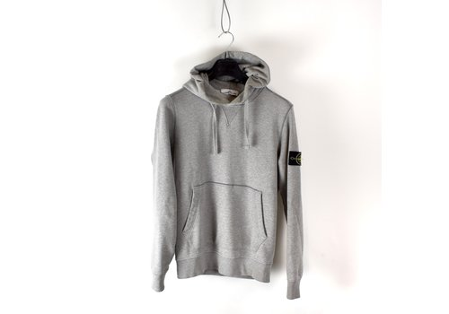 Stone Island Stone Island grey hooded cotton sweatshirt S