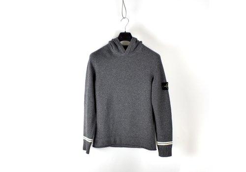 Stone Island Stone Island grey hooded wool knit S