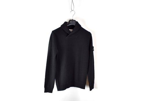 Stone Island Stone Island black wool shawl collar knit S
