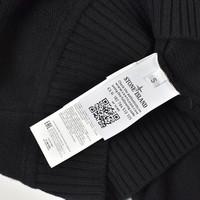 Stone Island black wool shawl collar knit S
