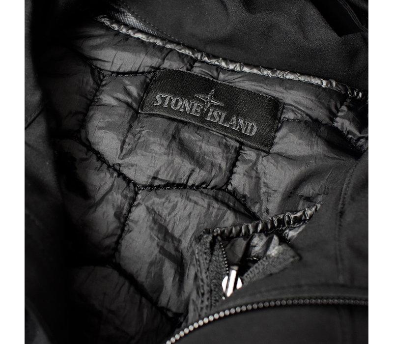 Stone Island black ghost piece tank shield hooded parka S