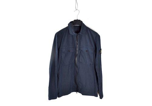 Stone Island Stone Island navy cotton old effect overshirt jacket M
