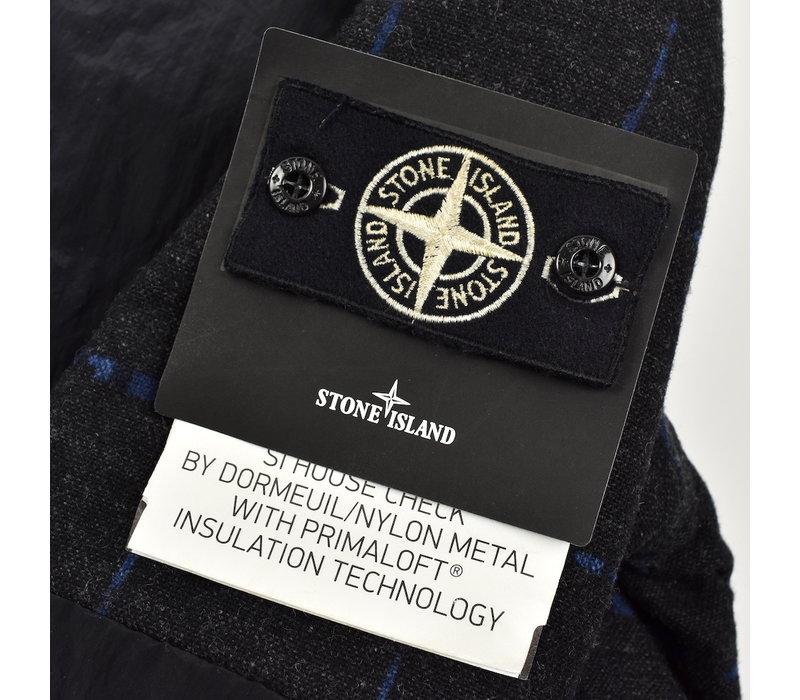 Stone Island x Dormeuil house check nylon metal with primaloft bomber jacket M