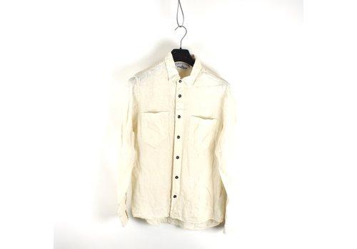 Stone Island Stone Island ivory linoflax longsleeve shirt M