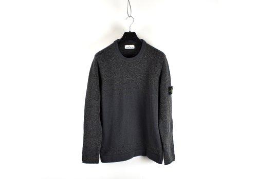 Stone Island Stone Island grey lambswool melange effect crewneck knit XL