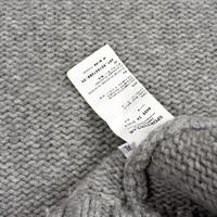 Stone Island grey heavy wool hooded knit XL
