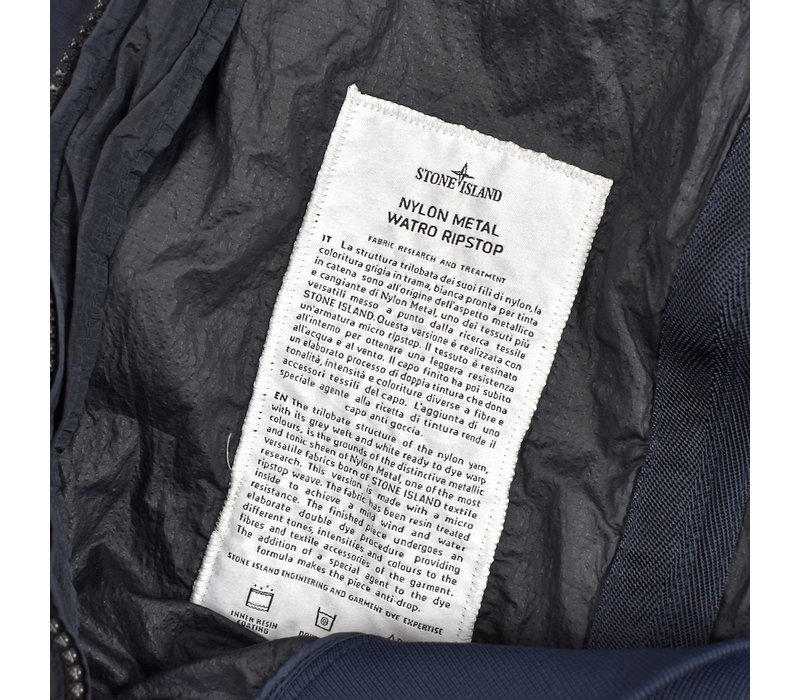 Stone Island navy nylon metal watro ripstop bomber jacket XXXL