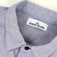 Stone Island blue heavy cotton long sleeve shirt XXL