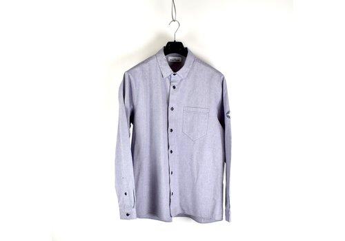 Stone Island Stone Island blue heavy cotton long sleeve shirt XXL