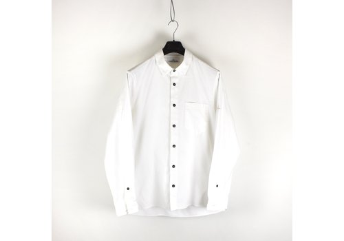 Stone Island Stone Island white heavy cotton long sleeve shirt XL
