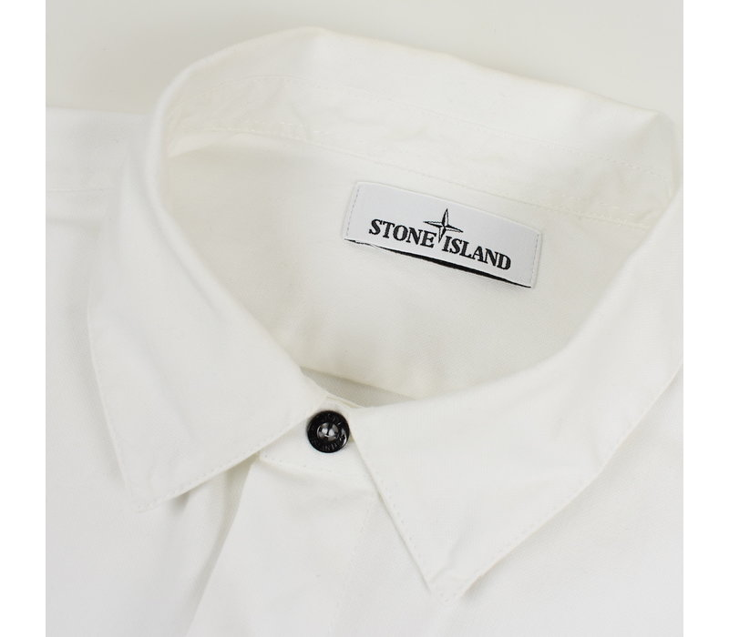 Stone Island white heavy cotton long sleeve shirt XL