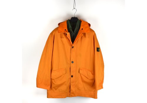 Stone Island Stone Island orange reversible raso floccato green edge badge coat XL