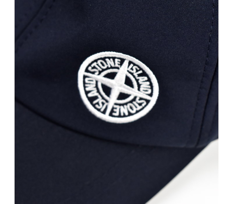 Stone Island dark navy softshell-r compass logo cap
