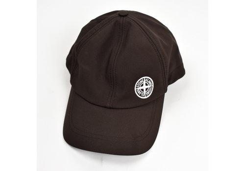 Stone Island Stone Island brown softshell-r compass logo cap