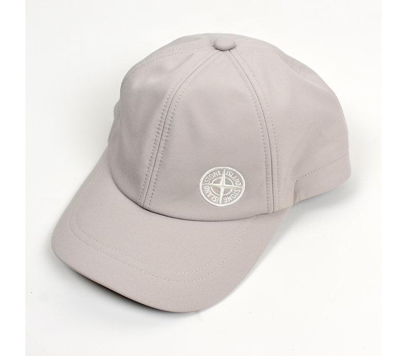 Stone Island beige softshell-r compass logo cap