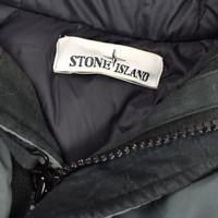 Stone Island green mussola gommata velour down-tc parka L