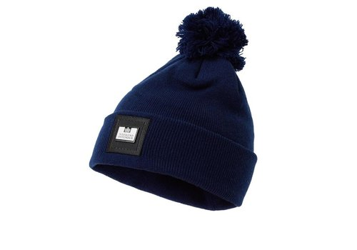 Weekend Offender Weekend Offender Zambada knit bobble beanie hat Navy