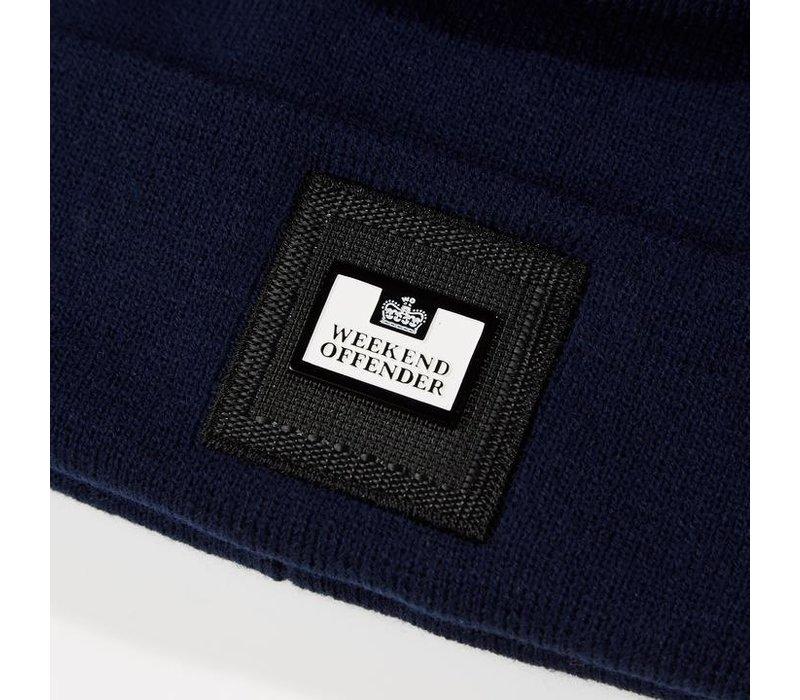 Weekend Offender Zambada knit bobble beanie hat Navy