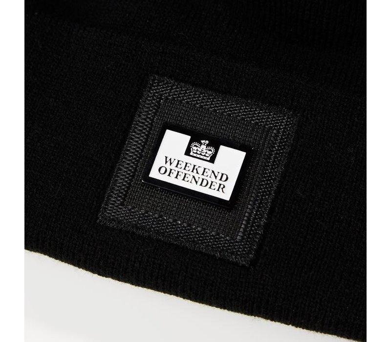 Weekend Offender Zambada knit bobble beanie hat Black