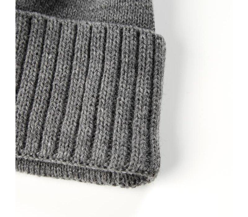 Weekend Offender Punata knit beanie hat Grey Marl