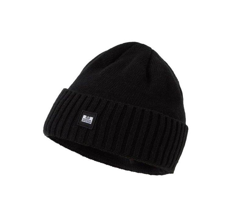 Weekend Offender Punata knit beanie hat Black