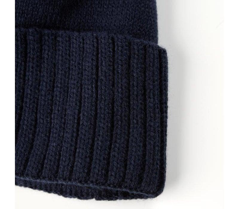 Weekend Offender Punata knit beanie hat Navy
