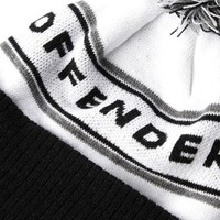 Weekend Offender Mountains knit beanie hat White