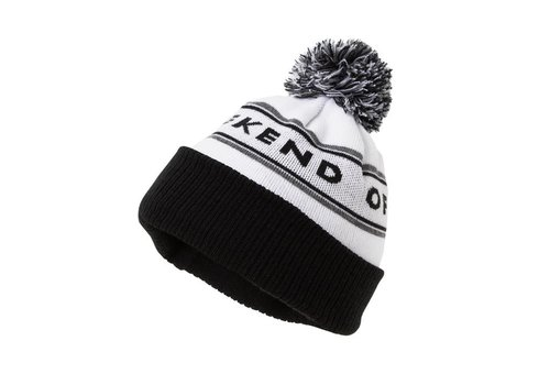 Weekend Offender Weekend Offender Mountains knit beanie hat White