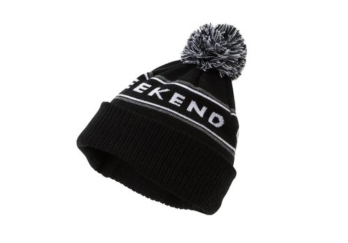 Weekend Offender Weekend Offender Mountains knit beanie hat Black