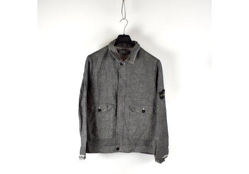 Stone Island Stone Island grey compact cotton short jacket XL