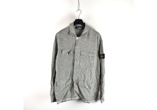 Stone Island Stone Island grey compact cotton overshirt jacket XL