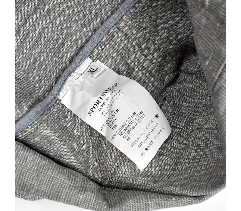 Stone Island grey compact cotton longer length jacket XL